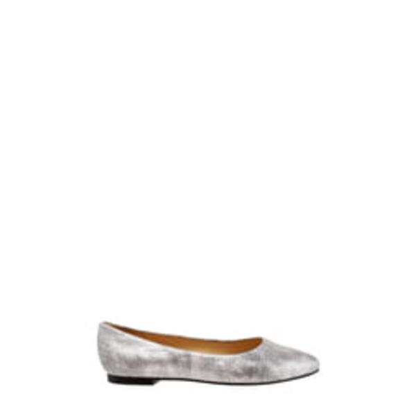 トロッターズ レディース サンダル シューズ Estee Pointed Toe Flat Silver Print Leather