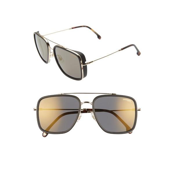 カレラ メンズ サングラス・アイウェア アクセサリー Carrera Eyewear 57mm Navigator Sunglasses Gold/ Gray Bronze Mirror