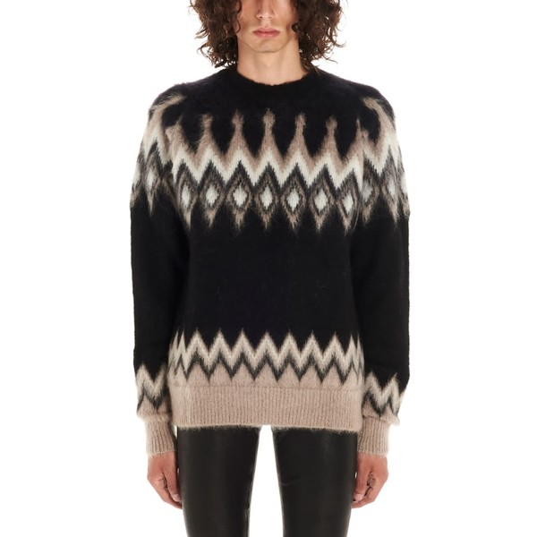 ラネウス メンズ ニット&セーター アウター Laneus Sweater Black