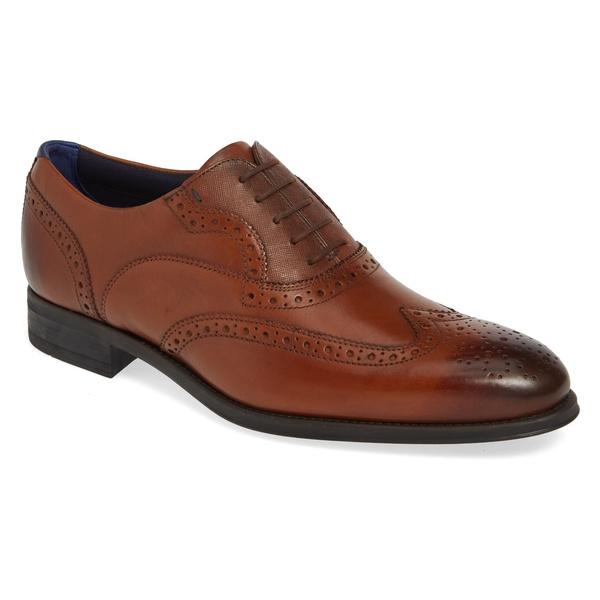 テッドベーカー メンズ ドレスシューズ シューズ Ted Baker London Mitack Wingtip (Men) Tan Leather