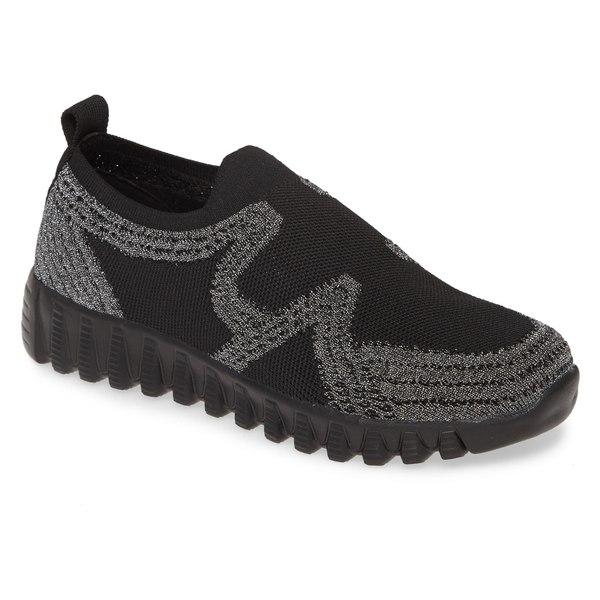 バーニーメブ レディース スニーカー シューズ bernie mev. Nadin Slip-On Sneaker (Women) Black/ Pewter Fabric