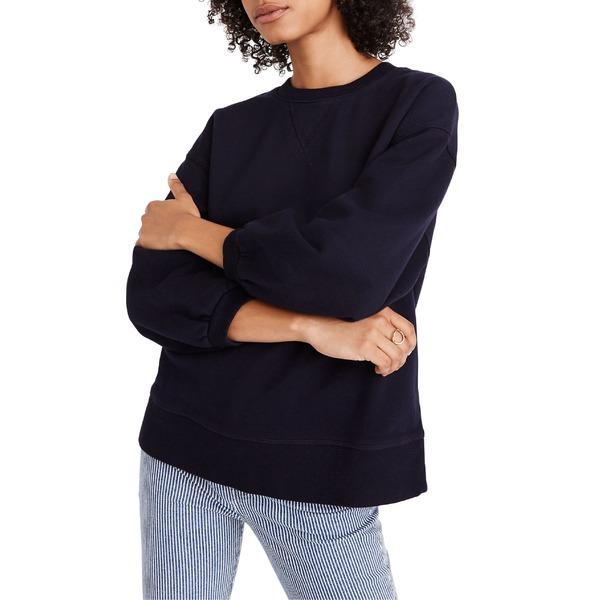 メイドウェル レディース パーカー・スウェットシャツ アウター Madewell Oversize Bubble Sleeve Sweatshirt Night Vision