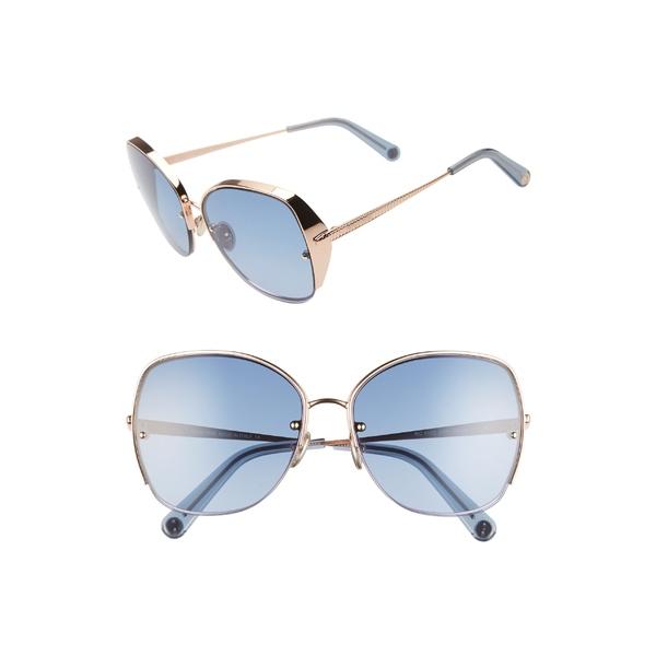 ロベルトカヴァリ レディース サングラス&アイウェア アクセサリー Roberto Cavalli 60mm Sunglasses Gold/ Gradient Blue
