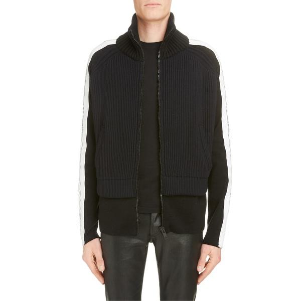 ジバンシー メンズ ジャケット&ブルゾン アウター Givenchy Funnel Neck Knit Jacket Black