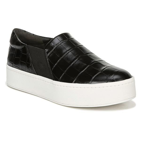 ヴィンス レディース スニーカー シューズ Vince Warren Slip-On Sneaker (Women) Black Patent