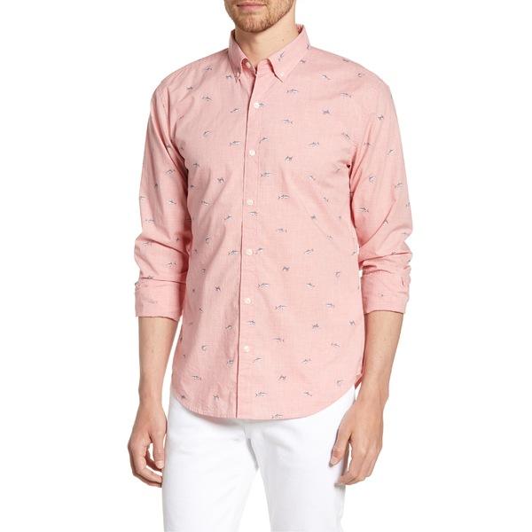 ボノボス メンズ シャツ トップス Bonobos Summerweight Slim Fit Shark Shirt Sharking Around Hthr Pink