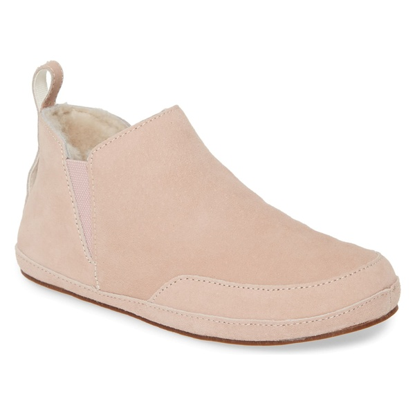 オルカイ レディース サンダル シューズ OluKai Olani Genuine Shearling Slipper (Women) Coral Rose Leather