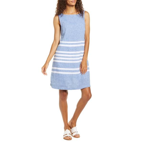 ビーチランチラウンジ) レディース ワンピース トップス beachlunchlounge Alina Stripe Linen & Cotton Shift Dress Saketini