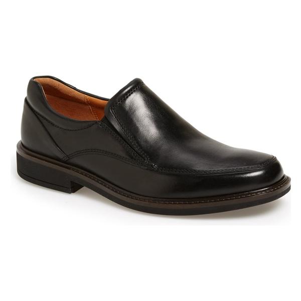 エコー メンズ スリッポン・ローファー シューズ ECCO Holton Slip-On (Men) Black Leather