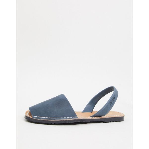 leather ソリラス メンズ sandals Solillas in navy シューズ menorcan サンダル Navy