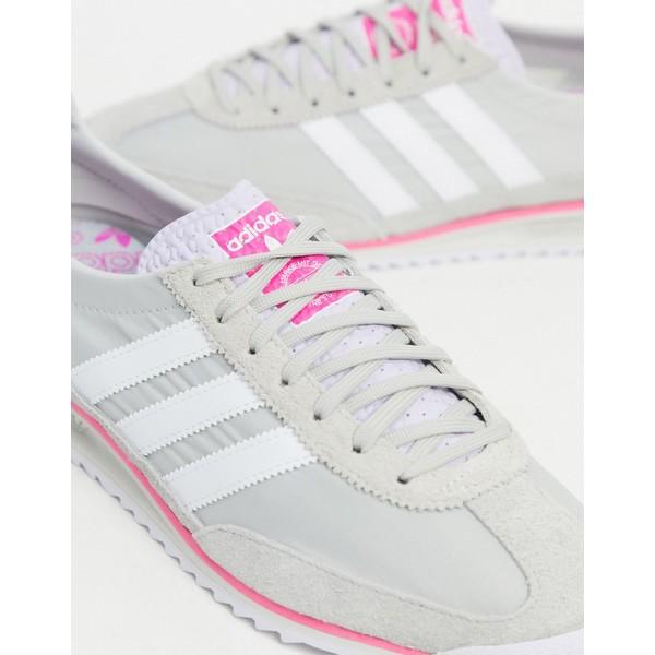 アディダスオリジナルス レディース スニーカー シューズ adidas Originals SL 72 sneaker in gray and pink Gray