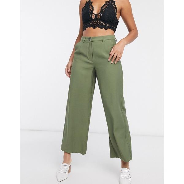 オブジェクト レディース カジュアルパンツ ボトムス Object cropped length pants two-piece in burnt olive Burnt olive