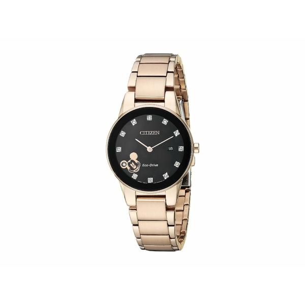 シチズンウォッチ レディース 腕時計 アクセサリー Mickey Mouse GA1056-54W Rose Gold Tone