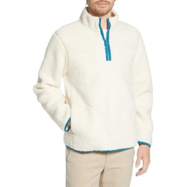 ボノボス メンズ ジャケット&ブルゾン アウター Faux Shearling Quarter Zip Pullover SNOW GLOBE