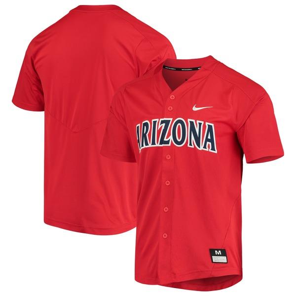 ナイキ メンズ ユニフォーム トップス Arizona Wildcats Nike Vapor Untouchable Elite FullButton Replica Baseball Jersey Red