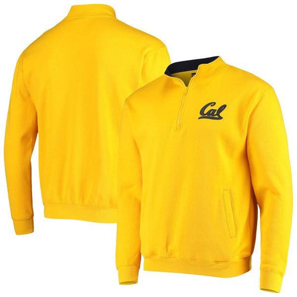 コロシアム メンズ ジャケット&ブルゾン アウター Cal Bears Colosseum Tortugas Logo Quarter Zip Jacket White
