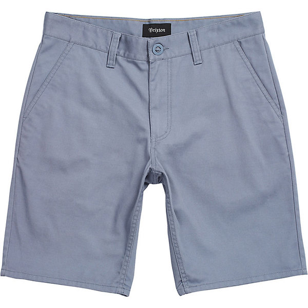 ブリクストン メンズ ハーフ&ショーツ ボトムス Brixton Men's Toil II Hemmed Short Grey Blue