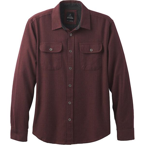 プラーナ メンズ シャツ トップス Prana Men's Lybeck LS Shirt Red Umber