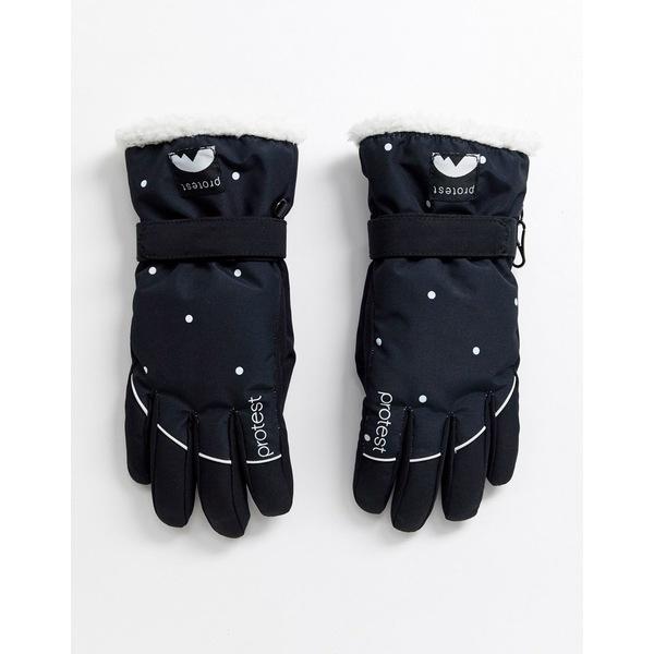 プロテスト レディース 手袋 アクセサリー Protest Quite snow glove in black Black