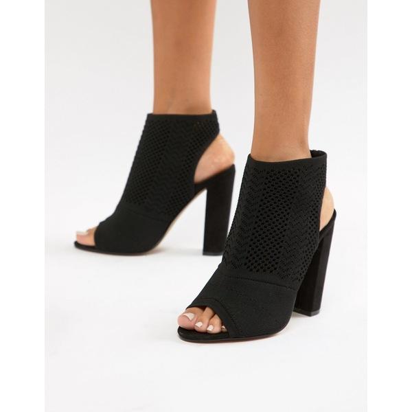 エイソス レディース ヒール シューズ ASOS DESIGN Hissy knitted heels Black