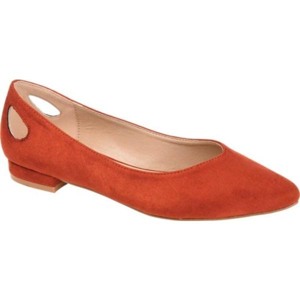 ジャーニーコレクション レディース サンダル シューズ Devon Ballet Flat Rust Microsuede Fabric
