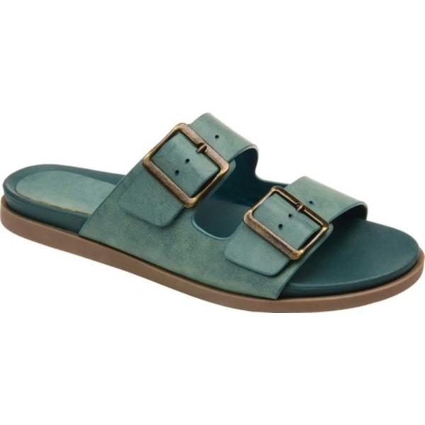 ジャーニーコレクション レディース サンダル シューズ Whitley Two Strap Slide Blue Faux Leather