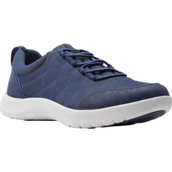 クラークス レディース スニーカー シューズ Adella Holly Sneaker Navy Textile