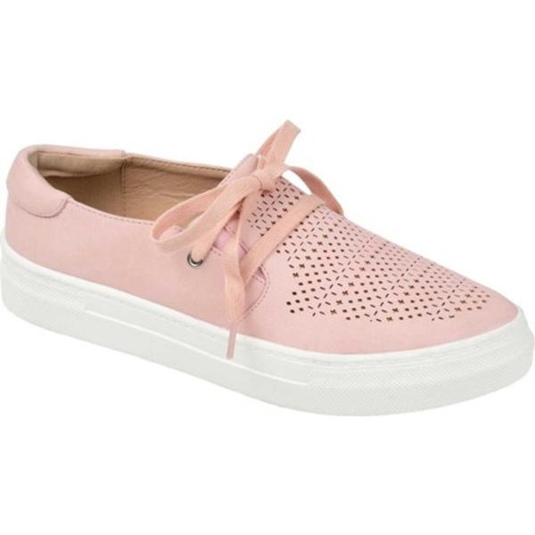 ジャーニーコレクション レディース スニーカー シューズ Shantel Slip On Sneaker Pink Perforated Faux Leather