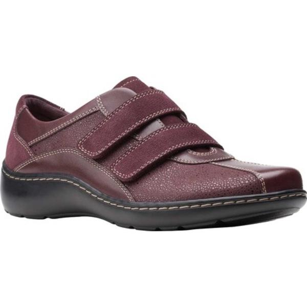クラークス レディース スニーカー シューズ Cora Azalia Sneaker Burgundy Synthetic/Leather