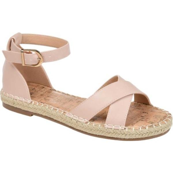 ジャーニーコレクション レディース サンダル シューズ Lyddia Espadrille Ankle Strap Sandal Blush Faux Leather