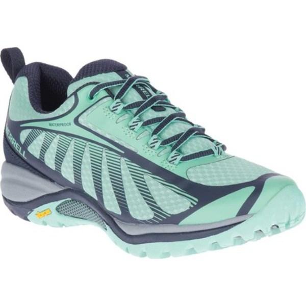 メレル レディース ブーツ&レインブーツ シューズ Siren Edge 3 Waterproof Hiking Shoe Navy/Wave Waterproof Mesh/3D Printed TPU