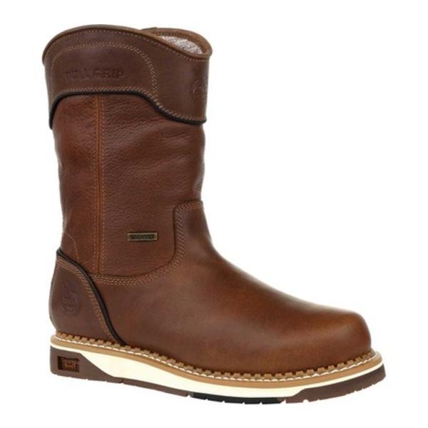 ジョージブーツ メンズ ブーツ&レインブーツ シューズ GB00369 AMP LT Wedge Waterproof Pull On Work Boot Brown Full Grain Leather