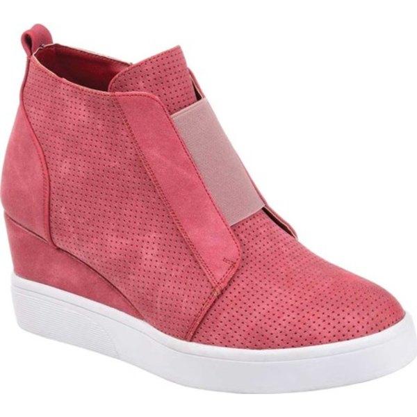ジャーニーコレクション レディース スニーカー シューズ Clara Wedge Sneaker Pink Faux Leather