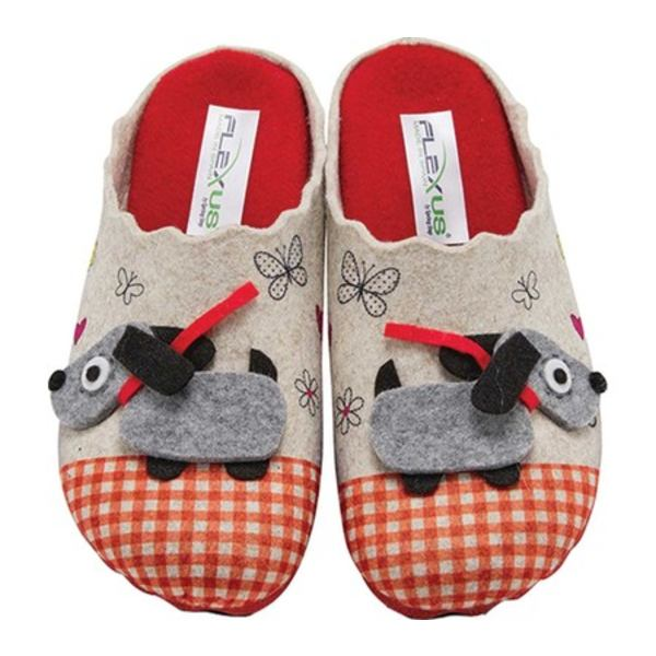 フレクサス レディース サンダル シューズ Frolick Clog Slipper Red Multi Wool
