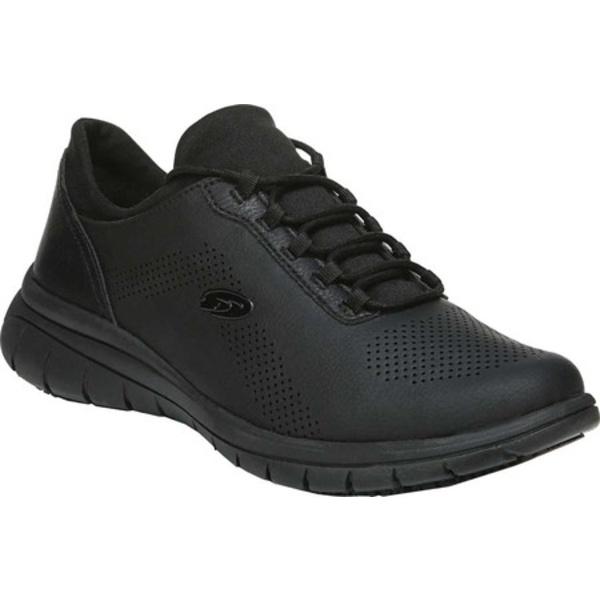 ドクター・ショール レディース スニーカー シューズ Visionary Slip Resistant Work Shoe Black Dull Recycled Leather/Neoprene