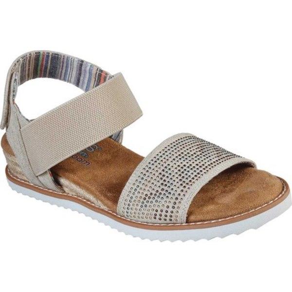 スケッチャーズ レディース サンダル シューズ BOBS Desert Kiss Bella Breeze Ankle Strap Sandal Natural/Multi