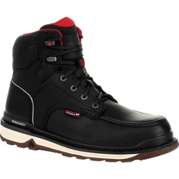 ロッキー メンズ ブーツ&レインブーツ シューズ Rams Horn CT Waterproof Work Boot RKK0304 Black Full Grain Leather