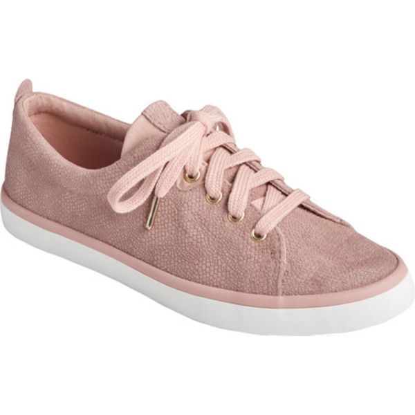 トップサイダー レディース スニーカー シューズ Sailor Lace To Toe Serpent Leather Sneaker Blush Leather