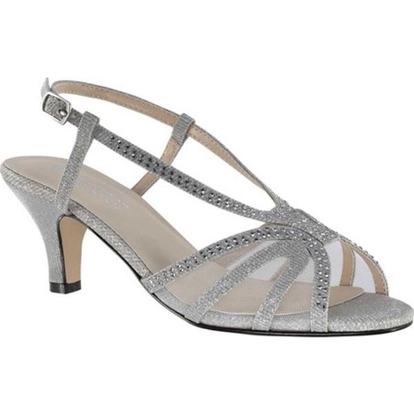 タッチアップ レディース サンダル シューズ Clara Heeled Sandal Silver Glitter Synthetic
