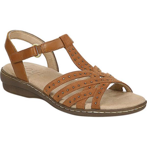 ソウルニュトライザー レディース サンダル シューズ Brielle T Strap Sandal Saddle Leather