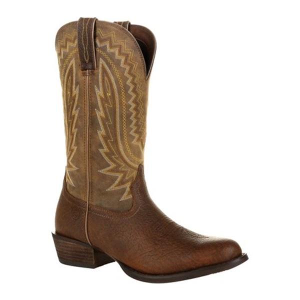 ヂュランゴ メンズ ブーツ&レインブーツ シューズ DDB0289 Rebel Frontier Western Boot Flaxen Brown Full Grain Leather