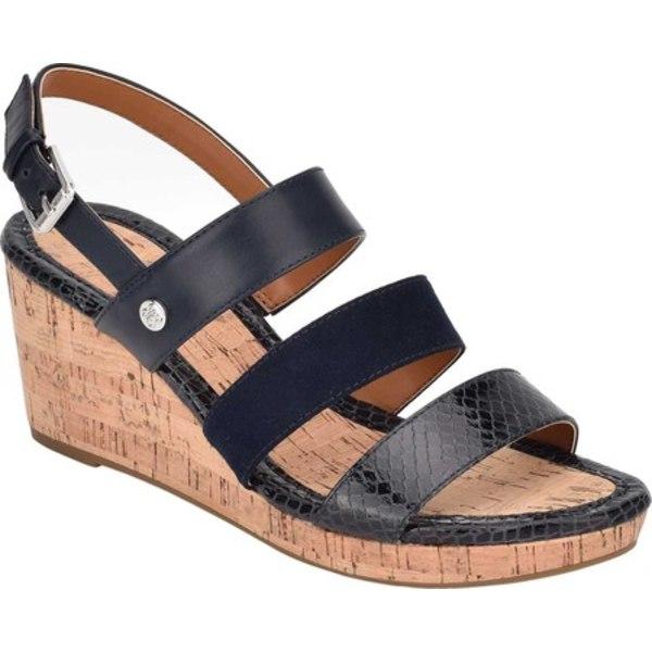 バンドリーノ レディース サンダル シューズ Talene Strappy Wedge Sandal Black Textile/Faux Leather