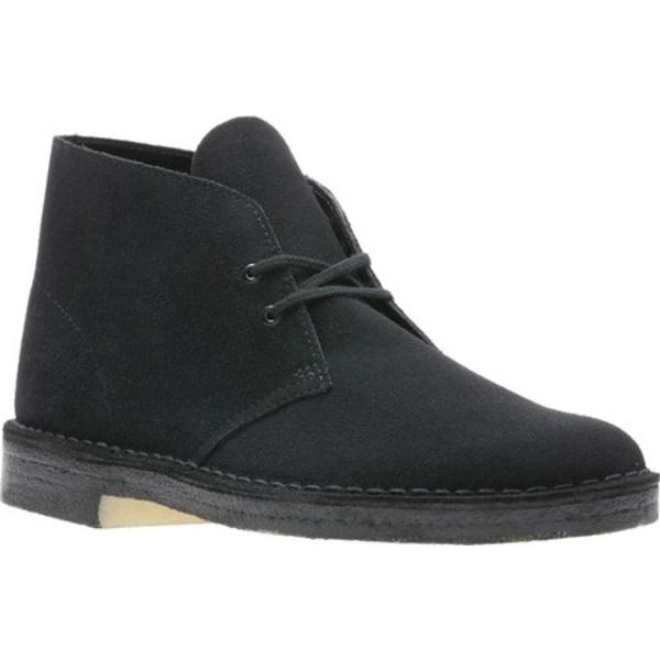 クラークス メンズ ドレスシューズ シューズ Desert Boot Black/Black Suede