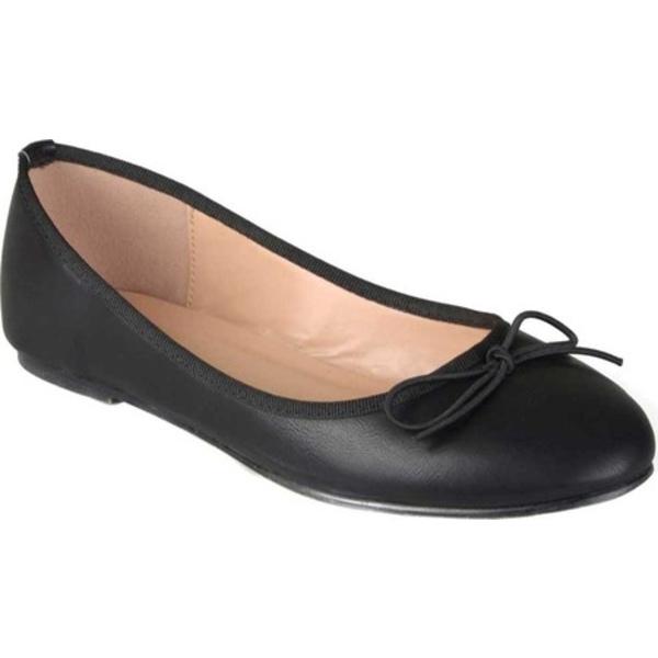 ジャーニーコレクション レディース サンダル シューズ Vika2 Ballet Flat Black Faux Leather