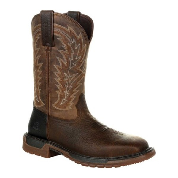 ロッキー メンズ ブーツ&レインブーツ シューズ Original Ride FLX Steel Toe Western Boot RKW0321 Brown Full Grain Leather