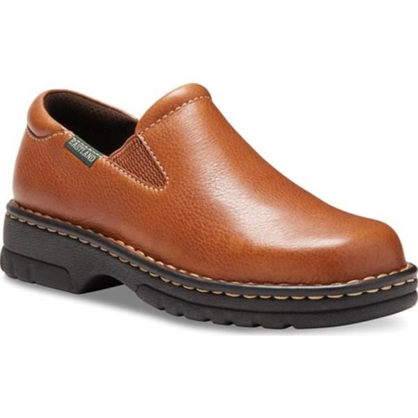 イーストランド レディース スニーカー シューズ Newport Slip On Tan Leather