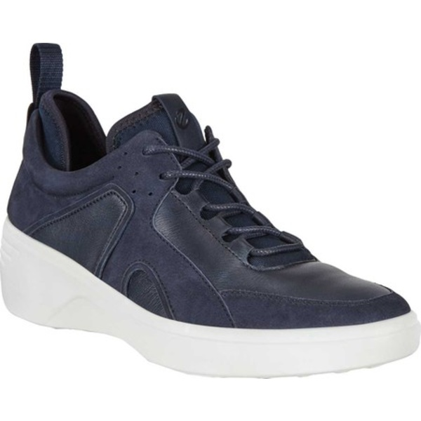 エコー レディース スニーカー シューズ Soft 7 Wedge Sneaker Night Sky/Night Sky Nubuck/Textile