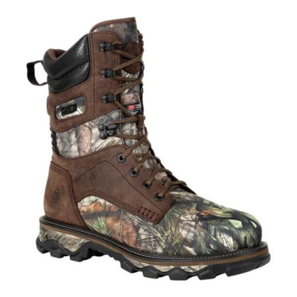 ロッキー メンズ ブーツ&レインブーツ シューズ MTN Stalker WP Insulated Outdoor Boot RKS0475 Brown/Mossy Oak Country Nylon/Full Grain Leather