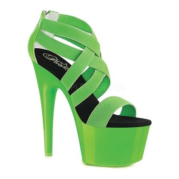プリーザー レディース サンダル シューズ Adore 769UV Strappy Sandal Neon Green/Neon Green Patent