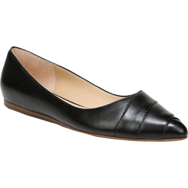 フランコサルト レディース サンダル シューズ Hilaria Ballet Flat Black Leather